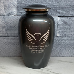 Customer Gallery - Angel Wings Cremation Urn - Gunmetal Gray