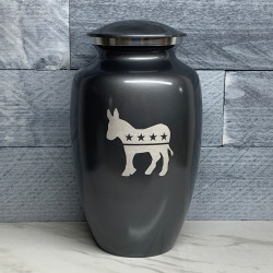 Customer Gallery - Democratic Donkey Cremation Urn - Gunmetal Gray