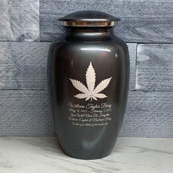 Customer Gallery - Marijuana Cremation Urn - Gunmetal Gray