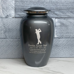 Customer Gallery - Golf Cremation Urn - Gunmetal Gray