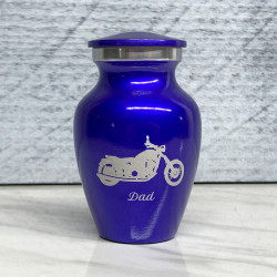 Customer Gallery - Motorcycle Keepsake Urn - Midnight Blue