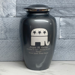 Customer Gallery - Republican Elephant Cremation Urn - Gunmetal Gray