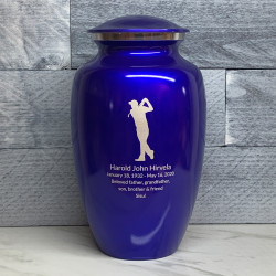 Customer Gallery - Golf Cremation Urn - Midnight Blue