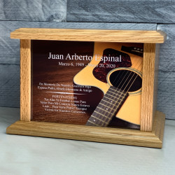 Customer Gallery - Acoustic Guitar Cremation Urn - Prestige Oak